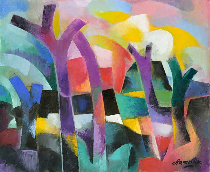 Цветове, форми и музика – изложба на Аршак Нерсисян в Галерия Le Papillon