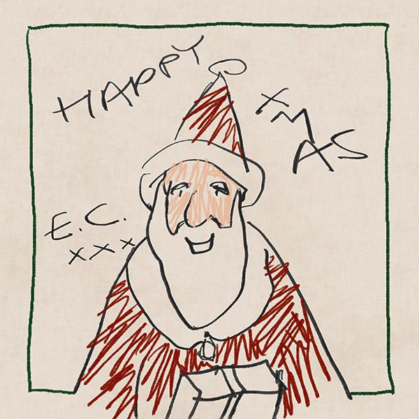 Рисунка на Ерик Клептън краси обложката на първия му коледен албум