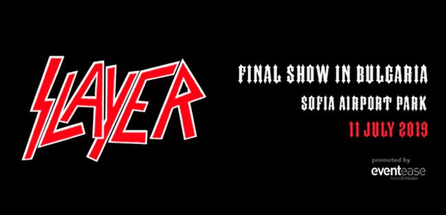Slayer с последен концерт в България в рамките на прощалното си турне